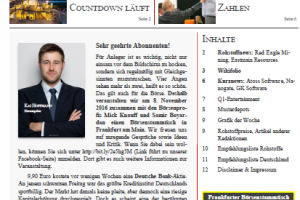 Investor Magazin 186 // Atoss Software, Red Eagle, Nanogate, Eastmain Resources, GK Software, Galane Gold, Musterdepots