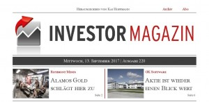 Investor Magazin 220 // GK Software, Alamos Gold, Richmont Mines, Atlantic Gold, Mensch und Maschine