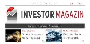Investor Magazin 225 // Excellon Resources, Endeavour Mining, Voltabox, GxP German Properties