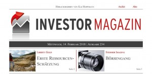 Investor Magazin 234 // Bet-at-home.com, Aurelius, Liberty Gold, Cobalt 27, Integra Resources, Stemmer Imaging