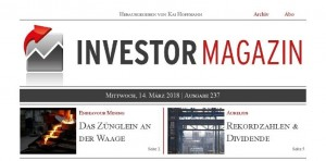 Investor Magazin 237 // Endeavour Mining, Aurelius, bet-at-home.com, Cobalt 27, Northern Vertex