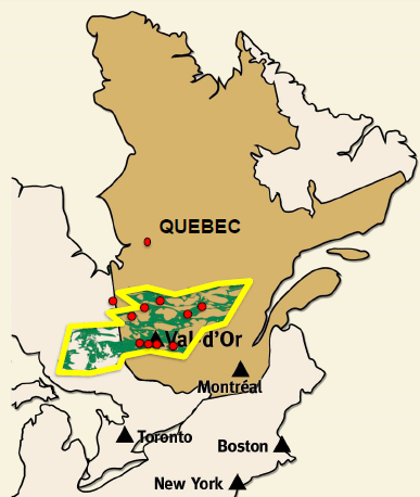 CartierResources_ValDOre_Lage_gold-Quebec