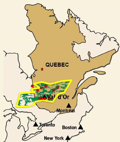 CartierResources_ValDOre_Lage_gold-Quebec